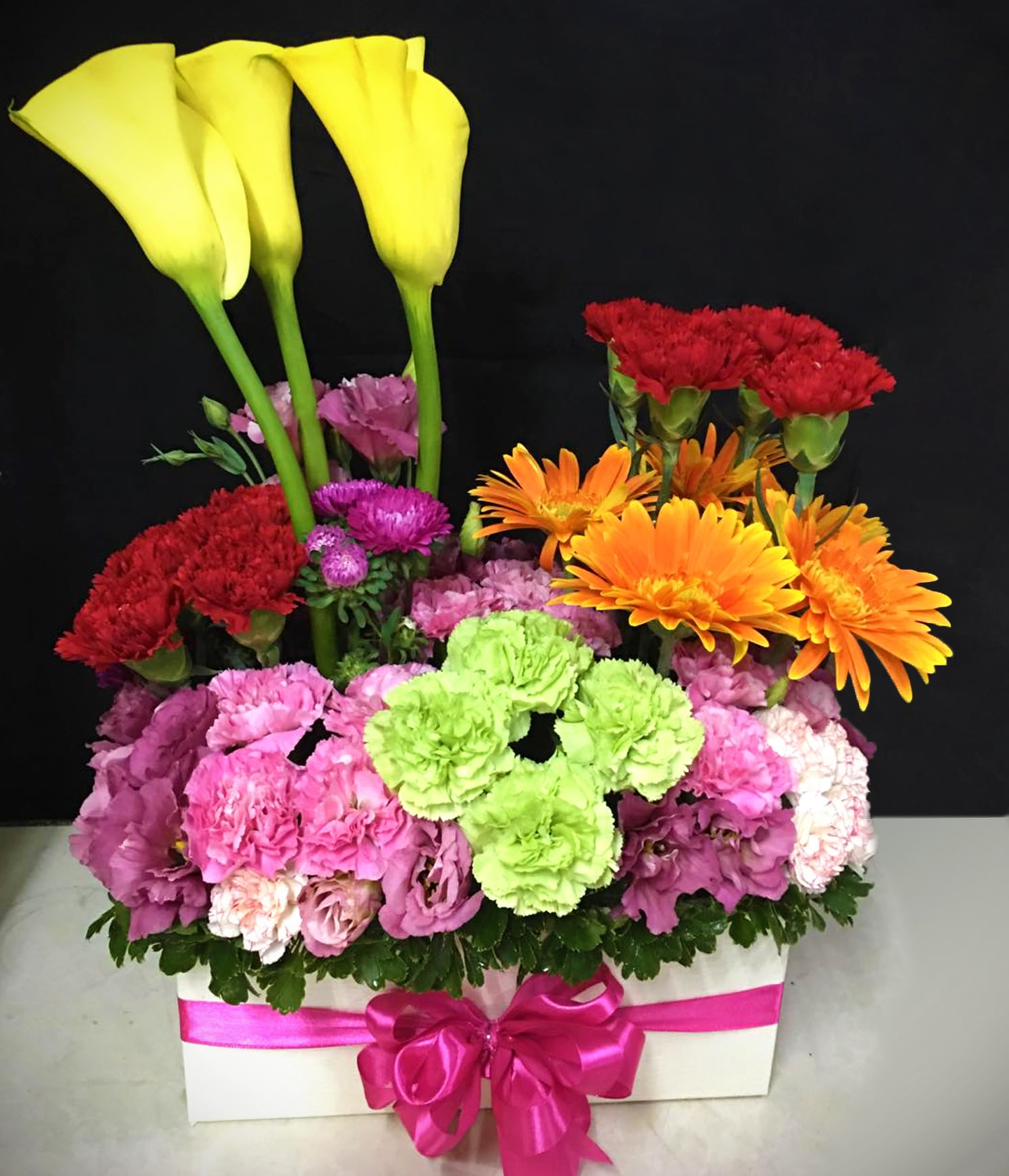 Box Of Mixed Colorful Flowers Delivered In Quezon City Flowerdelivery Ph By Bayan Blooms